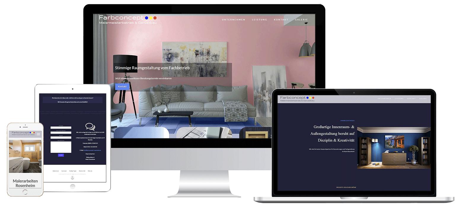 Rosenheim Web Design Projekte